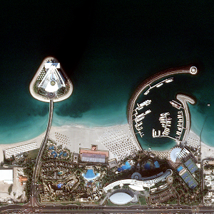 Detail of Dubai coast
