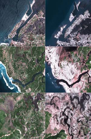 Detail of Banda Aceh site before - after