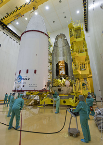 FREGAT fairing and the payload at S3B