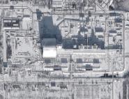 Le dôme de Tchernobyl vu depuis l'espace